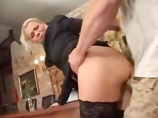 taut blond euro babe destroyed