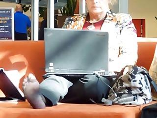 caught filming their feet
