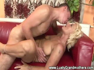 Mature hairy granny gets pounded and loves it