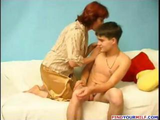 older corpulent russian redhead gives this