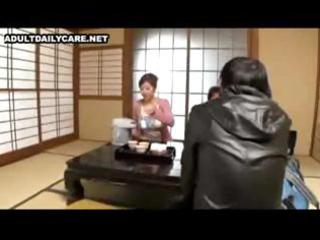japanese wife with large tits receives her snatch