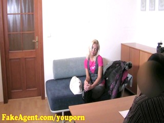fakeagent hd older blond does anal in casting