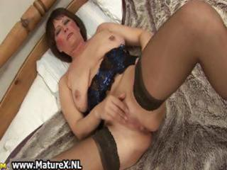 indecent old mom in hawt lingerie fucking part9