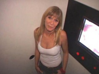 aged wife receives dual creampies in the gloryhole