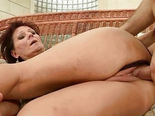 hawt granny enjoys hard sex with her paramour