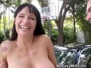 ribald brunette d like to fuck on her knees