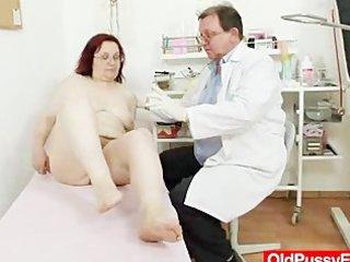 shaggy grandma enema during a medical exam