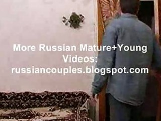 slender russian mature lady fucking with a lad