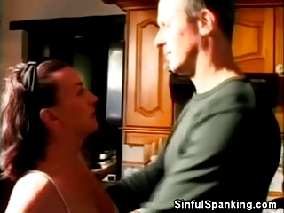 spanked older chick