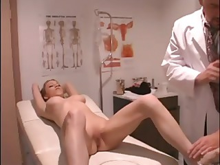 busty blonde goes for a gyno exam and receives