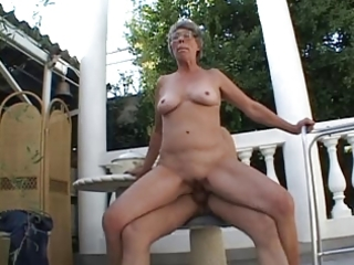 granny outdoor fuck