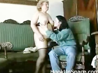 obese blond granny with curly pussy