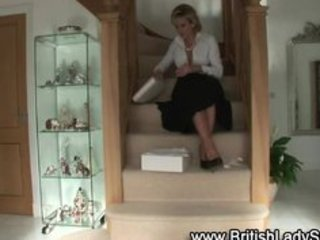 aged brit femdom shoe posing for the camera