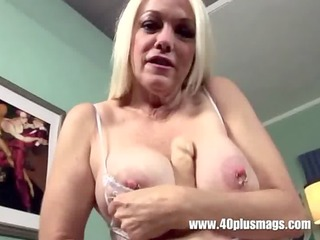 blonde aged big pierced tits and cunt