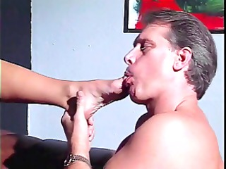 brunette hair foot fucks mature stud&s wang