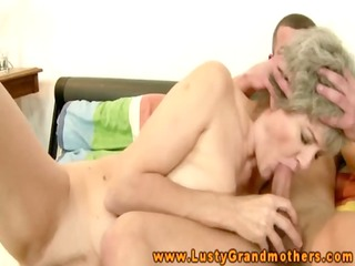 mature dilettante granny engulfing on shlong