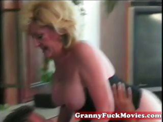 dishing out blond granny wet crack