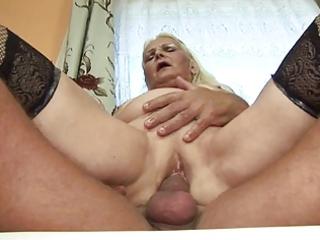 bulky blonde granny (german)