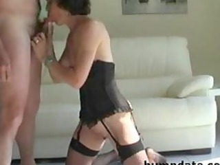 lascivious older sucks hubbys cock and gets