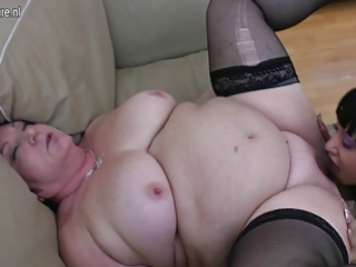 obese granny copulates 11 juvenile lesbian babes