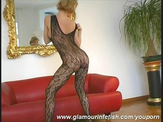 glamour d like to fuck posing in stockings