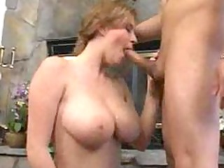 valuable breasty milf fucks lad