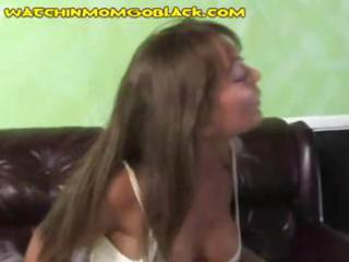 breasty brunette hair mamma shows off her tits to