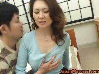 mina toujou hot mother enjoys