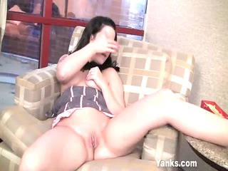 older fake penis insertion inside her love tunnel