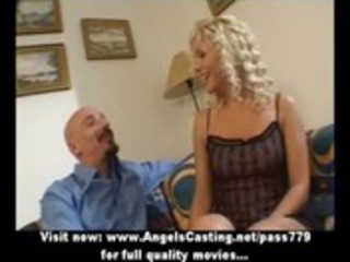 sexy golden-haired milf as bride does irrumation