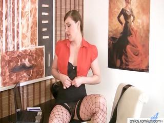 mother i hot striptease & dildo insertion