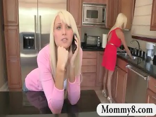 large pantoons stepmom tells boy to fellow up and
