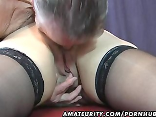 old amateur pair home act with cum on tits