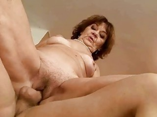 unattractive obese granny riding youthful cock