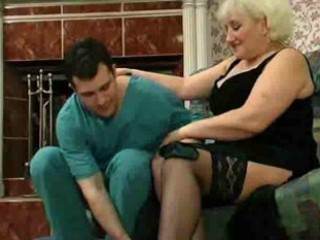 blonde granny craves to fuck the doctor