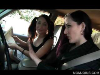 hawt mamma and daughter talked into fucking