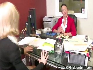 cfnm office honeys undress their interns