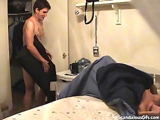 mommy catches her skanky daughter having sexy sex