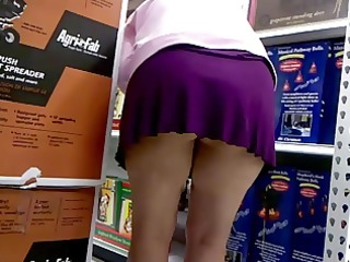 shopping in a short skirt out of panties again
