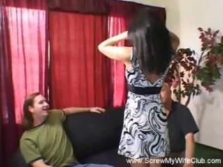 dark brown wife is a swinger and will suck or