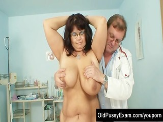 mature daniela has her huge scoops checked at gyno