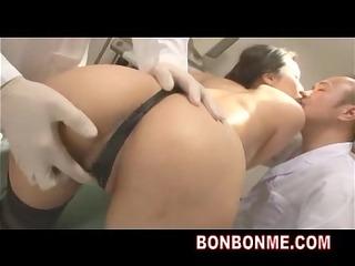 jap milf bondaged drilled by doctor