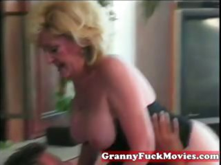 dishing out blonde granny fur pie