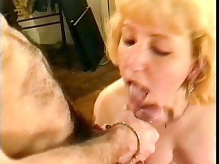 french mature takes 3 cumshots and facial in her