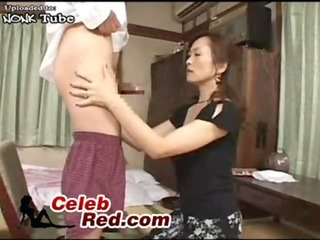 amazed japanese mama caught husbands young cousin