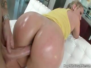 busty blond bitch goes avid engulfing part0