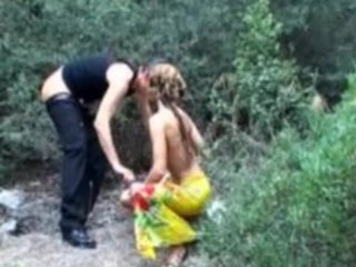 blond aged fucked outdoor
