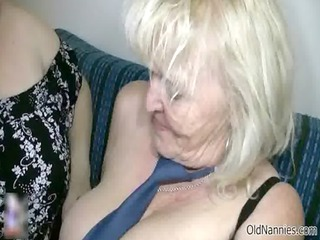 bawdy blond granny loves fucking a bulky