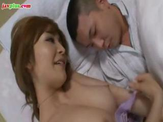 horny japanese mamma gets her teats tweaked by