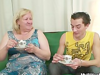 giant granny is banged by her son on law